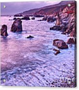 Violet Tides - Rocky Coast From Soberanes Point In Garrapata State  Acrylic Print