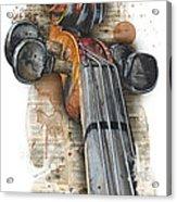 Violin 01 Elena Yakubovich Acrylic Print by Elena Yakubovich