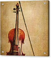 Violin With Bow Acrylic Print
