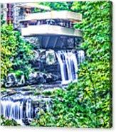 Viracious Falling Waters  Acrylic Print