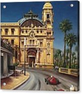 Virage De Massenet - 1959 Grand Prix De Monaco Acrylic Print