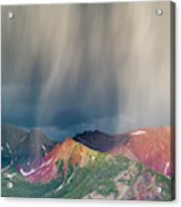 Virga And Storm Moving Over Mountains Acrylic Print