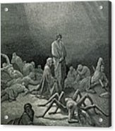 Virgil And Dante Looking At The Spider Woman, Illustration From The Divine Comedy Acrylic Print