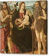 Virgin And Child Between St. John Acrylic Print