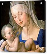 Virgin And Child Holding A Half-eaten Pear, 1512 Acrylic Print