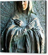 Virgin Mary Relief Acrylic Print