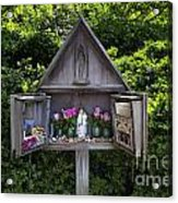 Virgin Mary Shrine Acrylic Print