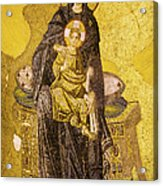 Virgin Mary With Baby Jesus Mosaic Acrylic Print by Artur Bogacki