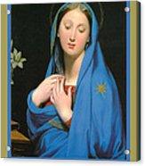 Virgin Of The Adoption Poster Acrylic Print