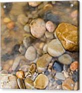 Virgin River Pebbles Acrylic Print