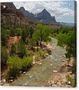 Virgin River Through Zion National Park Acrylic Print