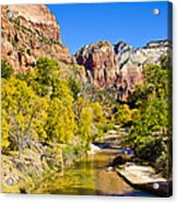 Virgin River - Zion Acrylic Print