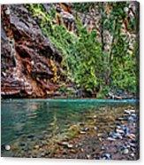 Virgin River Zion National Park Utah Acrylic Print