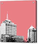 Virginia Beach Skyline - Light Red Acrylic Print