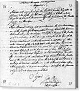 Virginia Council, 1778 Acrylic Print