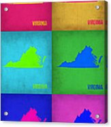 Virginia Pop Art Map 1 Acrylic Print