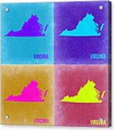 Virginia Pop Art Map 2 Acrylic Print