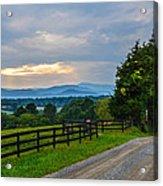 Virginia Road At Sunset Acrylic Print