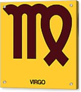 Virgo Zodiac Sign Brown Acrylic Print