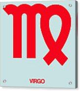 Virgo Zodiac Sign Red Acrylic Print