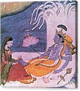 Vishnu And Lakshmi Float Across Cosmos Acrylic Print by Photo Researchers