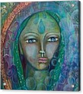 Visioning Woman Of Living Waters Acrylic Print