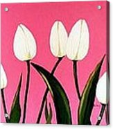 Visions Of Springtime - Abstract - Triptych Acrylic Print