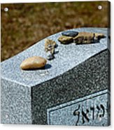 Visitation Stones On Jewish Grave Acrylic Print by Amy Cicconi