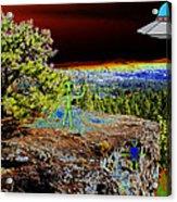 Visiting Rimrock In Spokane Acrylic Print