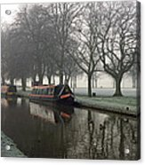 Visitor Moorings Beside Shobnal Fields Acrylic Print