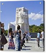 Visitors At The Martin Luther King Jr Memorial Acrylic Print