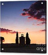 Vitaleta Chapel - Tuscany - Italy Acrylic Print
