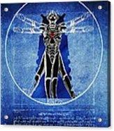 Vitruvian Cyberman In Deep Space  Acrylic Print