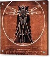Vitruvian Cyberman On Mars Acrylic Print
