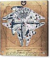 Vitruvian Falcon Millenium Acrylic Print