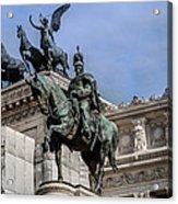 Vittorio Emanuele II Monument In Rome Acrylic Print