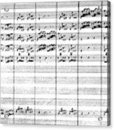 Vivaldi Manuscript Acrylic Print