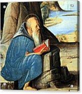 Vivarini's Saint Jerome Reading Acrylic Print