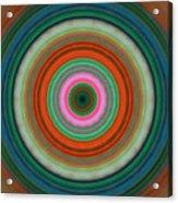 Vivid Peace - Circle Art By Sharon Cummings Acrylic Print