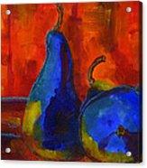 Vivid Pears Art Painting Acrylic Print by Blenda Studio