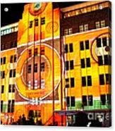 Vivid Sydney 2014 - Museum Of Contemporary Arts 2 By Kaye Menner Acrylic Print