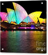 Vivid Sydney 2014 - Opera House 1 By Kaye Menner Acrylic Print