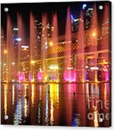 Vivid Sydney By Kaye Menner -  Vivid Aquatique  Acrylic Print