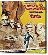 Vizsla Art Canvas Print - North By Northwest Movie Poster Acrylic Print