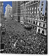 Vj Day Times Square New York City 1945 Color Added 2013 Acrylic Print