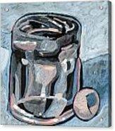 Vodka Shot Glass In Snow  Acrylic Print