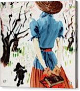 Vogue Cover Illustration Of A Woman Walking Acrylic Print