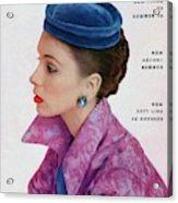 Vogue Cover Of Suzy Parker Acrylic Print