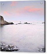Volcanic Pink Sunset Acrylic Print