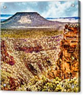Volcano At Grand Canyon Arizona Acrylic Print